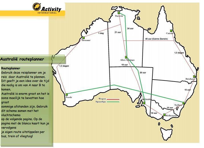 Routeplanner van Activity International