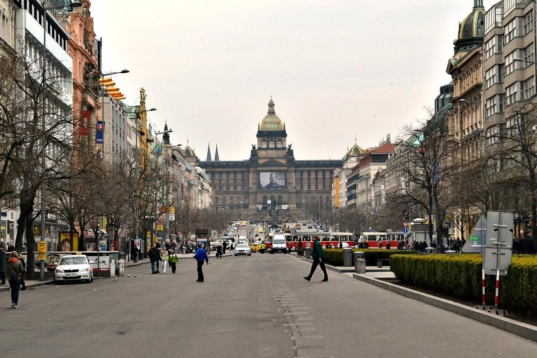 Wenceslausplein Praag