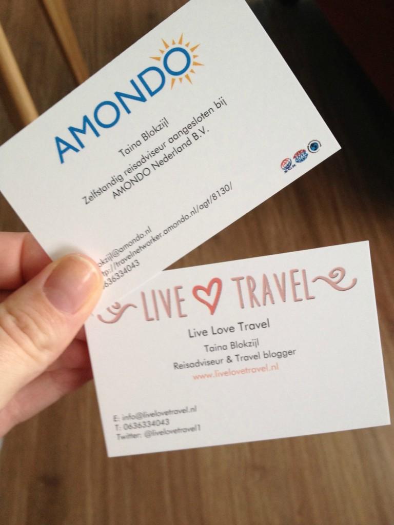 Amondo-visitekaartjes