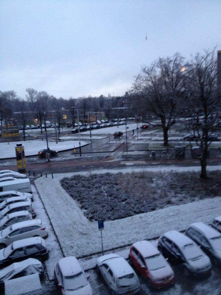 Sneeuw-Rotterdam