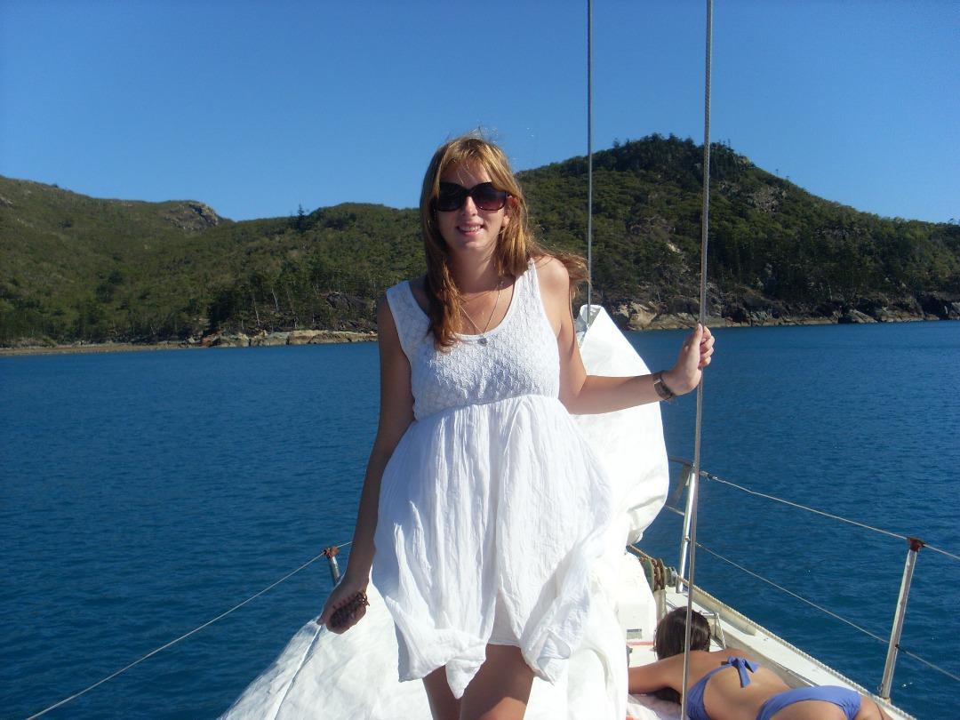 Ik op de boot whitsundays