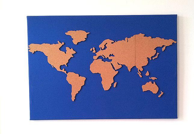 Wereldkaarprikbord