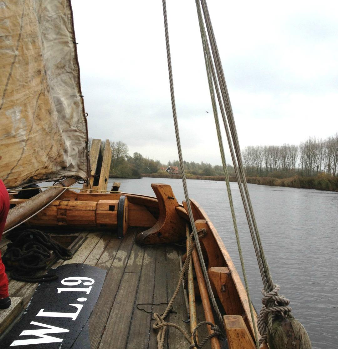 Zeilen op het Lauwersmeer